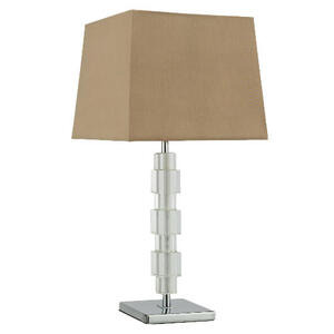 Photo of Tesco Block Table Lamp With Mocha Silk Effect Shade Lighting