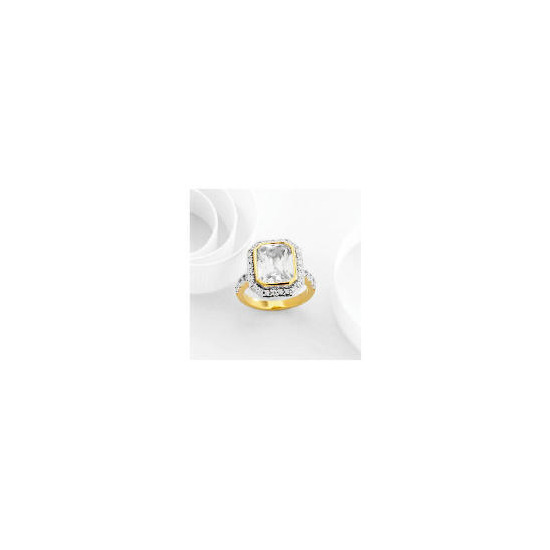 Adrian Buckley Cubic Zirconia Ring, Large