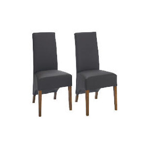 Photo of Pair Of Monterosso Chairs, Brown Leather With Sheesham Effect Legs Furniture