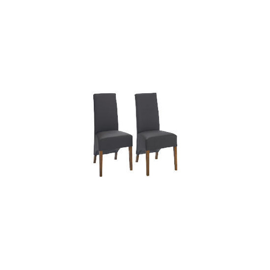 Pair of Monterosso Chairs, Brown Leather with Sheesham effect legs