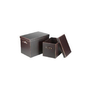 Photo of Tesco Faux Leather Trunks Set Of 2 Stationery