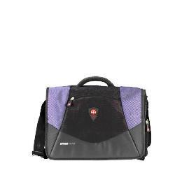 "Swiss Gear 17"" Mythos Black/Blue Messenger Laptop Bag Reviews"
