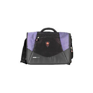 "Photo of Swiss Gear 17"" Mythos Black/Blue Messenger Laptop Bag Laptop Bag"