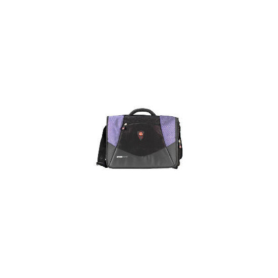 "Swiss Gear 17"" Mythos Black/Blue Messenger Laptop Bag"