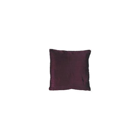 Tesco Faux Silk Cushion , Plum