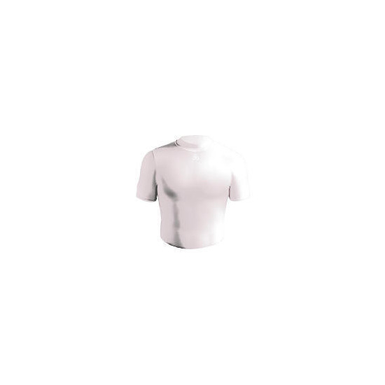 Short Sleeve Bodyshirt Crew Neck (WHITE adult medium)