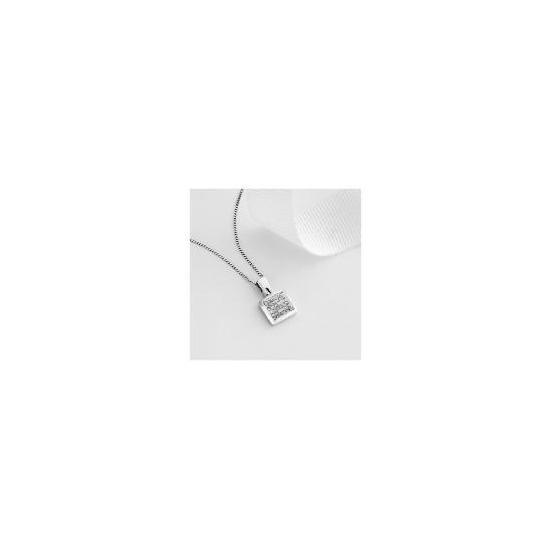 9ct white gold 1/4 carat diamond pendant