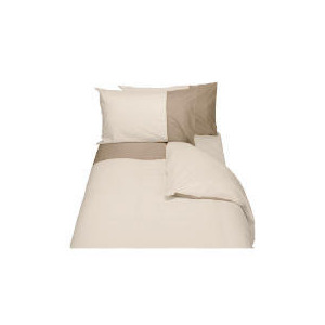 Photo of Finest Top Cuff Super King Duvet Set, Cream & Biscuit Bed Linen