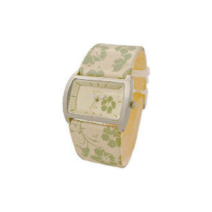 Photo of Kahuna Ladies Cream and Green Floral WATVH Watches Woman