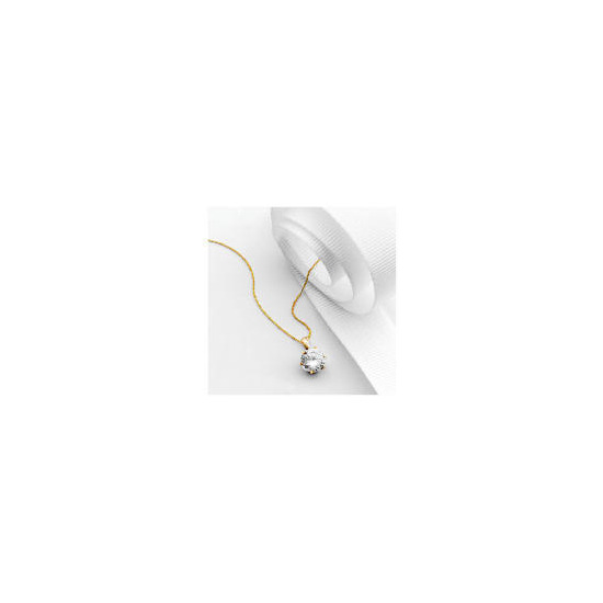 9ct Gold Cubic Zirconia Pendant