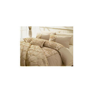 Photo of Tesco Flock Damask King Duvet Set, Gold Bed Linen