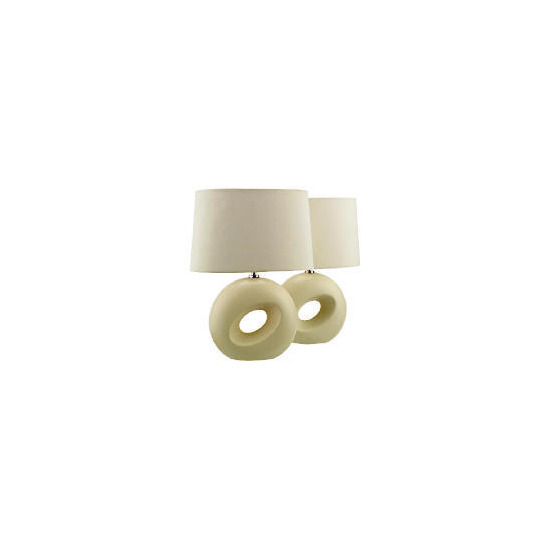 Tesco Set of 2 Calypso Table Lamp, Cream