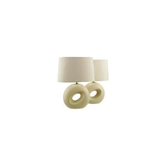 Tesco Set of 2 Calypso Table Lamp, Cream