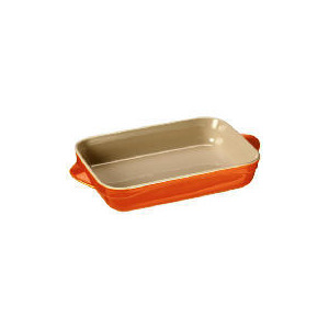 Photo of Le Creuset Curve Stoneware 25CM Rectangular Baking Dish Flame Cookware