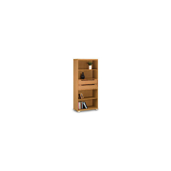 Seattle 2 drawer 4 shelf Storage, Oak effect