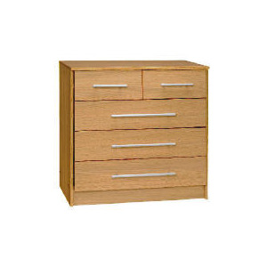 Photo of Brisbane 3 & 2 Drawer Chest, Light Oak Furniture