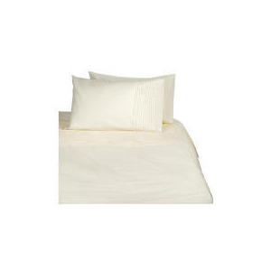 Photo of Tesco Pintuck Single Duvet Set, Cream Bed Linen