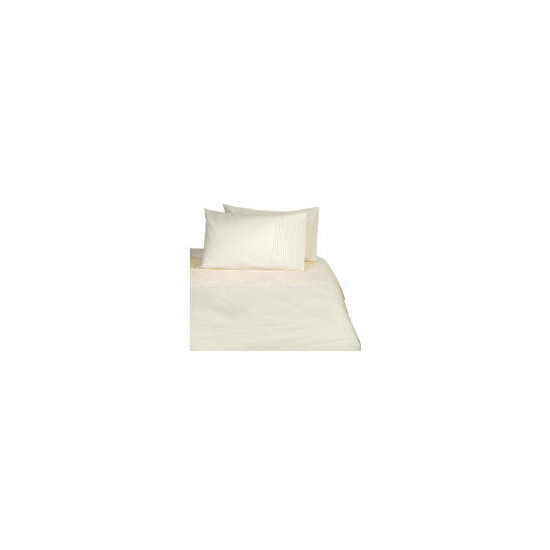 Tesco Pintuck Single Duvet Set, Cream