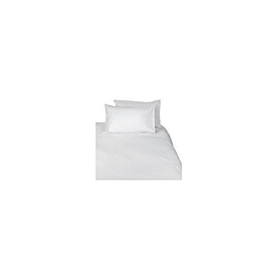 Tesco Pintuck Kingsize Duvet Set, White