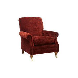 Photo of Finest Bloomsbury Made To Order Velvet Club Chair, Claret Furniture