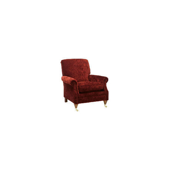 Finest Bloomsbury Made to Order Velvet Club Chair, Claret