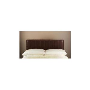 Photo of Haddon Faux Leather Double Headboard, Chocolate Bedding