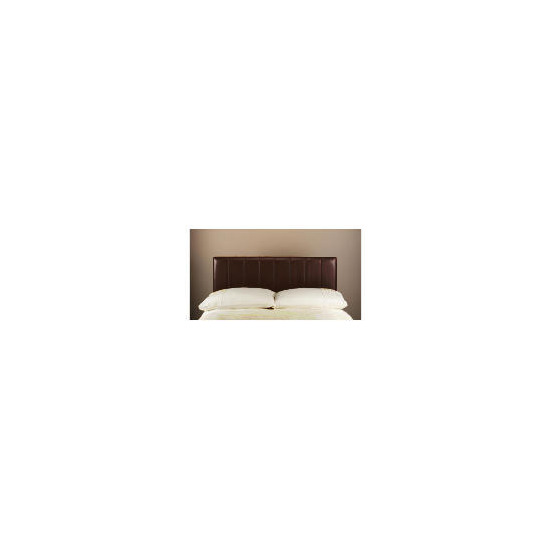 Haddon Faux Leather Double Headboard, Chocolate