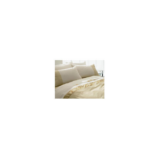 Tesco Ameile Luxury Embroidered Single Duvet Set, Gold