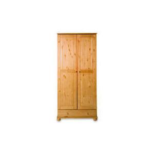 Photo of Vermont 2 Door 1 Drawer Wardrobe, Antique Pine Furniture