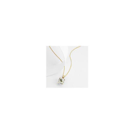 9ct gold green amethyst pendant