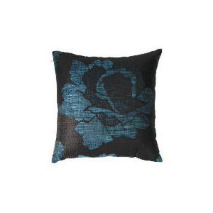 Photo of Tesco Rose Jaquard Cushion , Teal Cushions and Throw