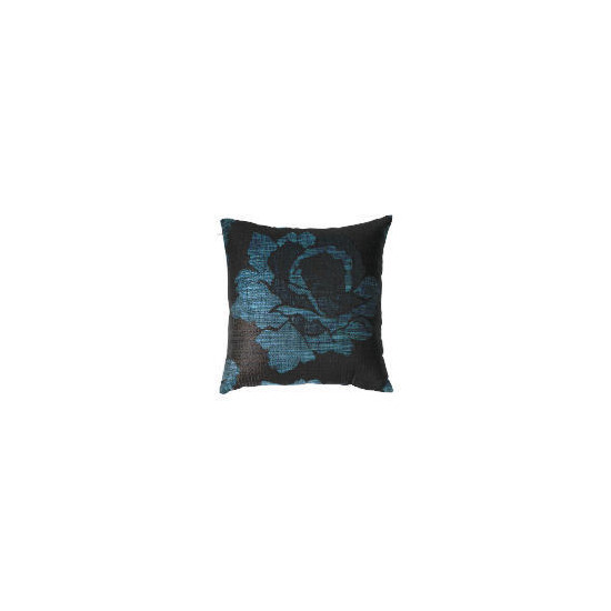 Tesco Rose Jaquard Cushion , Teal