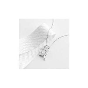 Photo of 9CT White Gold Cubic Zirconia Heart Pendant Jewellery Woman
