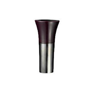 Photo of Tesco Reactive Glaze Ceramic Trumpet Vase Aubergine Home Miscellaneou
