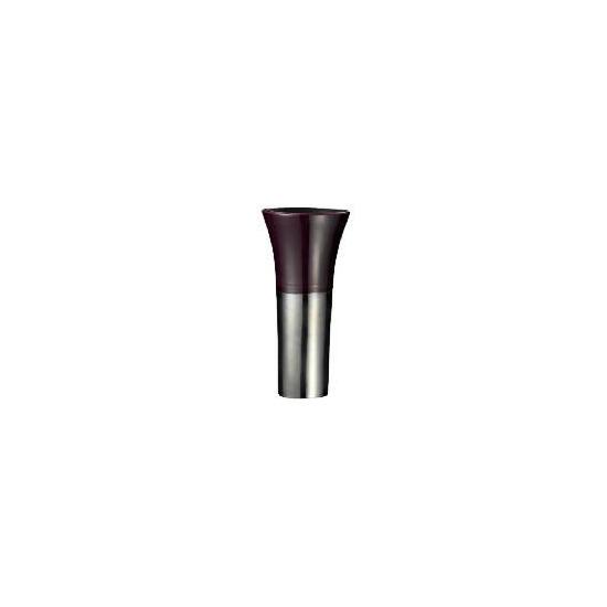 Tesco Reactive Glaze Ceramic Trumpet Vase Aubergine
