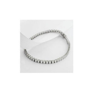 Photo of 9CT White Gold Cubic Zirconia Bracelet Jewellery Woman