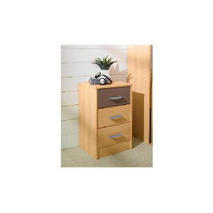 Photo of Shake 3 Drawer Bedside Chest, Chocolate Furniture