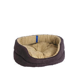 Oval faux suede bed 60cm Reviews