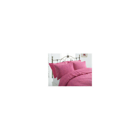 Tesco Damask Single Duvet Set, Fuschia