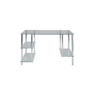 Photo of Atlantis Desk, Chrome and Clear Glass Furniture