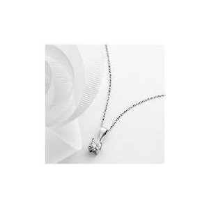 Photo of 9CT White Gold 1/2 Carat Diamond Pendant Jewellery Woman
