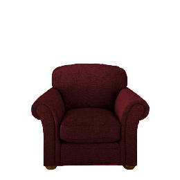 Finest Chichester Made to Order Velvet Armchair, Claret Reviews