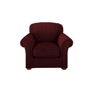 Photo of Finest Chichester Made To Order Velvet Armchair, Claret Furniture
