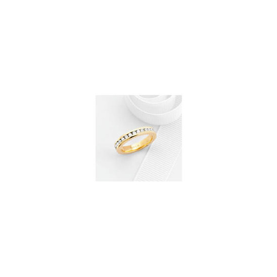 18ct Gold 1 carat Diamond Full Eternity Ring, N