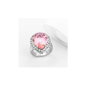 Photo of Adrian Buckley Pink and White Cubic Zirconia Ring, Small Jewellery Woman