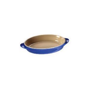 Photo of Le Creuset Curve Stoneware 25CM Oval Baking Dish Mediterranean Blue Cookware