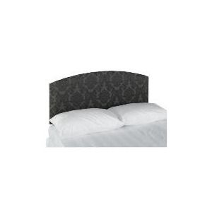 Photo of Chatsworth Damask Double Headboard - Black Bedding