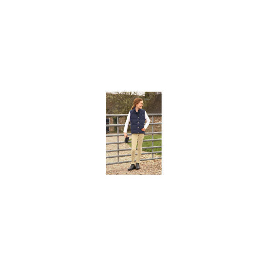 Tesco girls 2 in 1 quilted riding jacket /waistcoat navy age 7-8