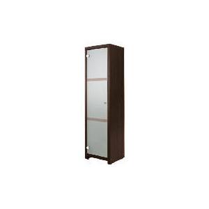 Photo of Chunky Dark Wood Floor Standing Storage Cupboard Household Storage