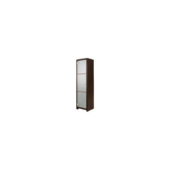 Chunky Dark wood Floor standing storage cupboard